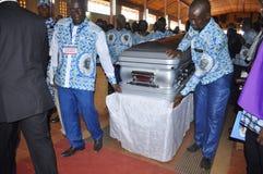 La dernière maison de la mère du Président Laurent Gbagbo Photographie stock libre de droits
