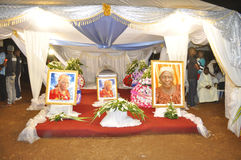 La dernière maison de la mère du Président Laurent Gbagbo Photographie stock