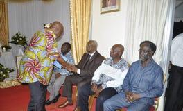 La dernière maison de la mère du Président Laurent Gbagbo Photo stock