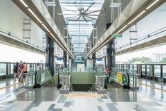 La dernière plate-forme de masse de kajang de transit rapide de MRT Le MRT est le dernier système de transport en commun en vallé Image libre de droits