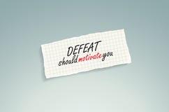 La derrota debe motivarle. Imagen de archivo libre de regalías
