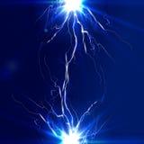 La descarga de la electricidad, relámpago Foto de archivo libre de regalías
