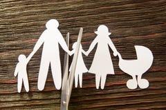 La desintegración de la familia divorcio Niños de la sección fotos de archivo