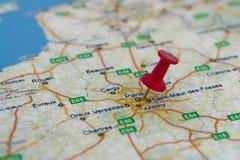 La destinazione è Parigi Immagini Stock