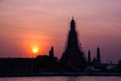 La destinazione turistica della Tailandia più famosa, Wat Arun Temple fotografie stock