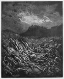 La destrucción de los ejércitos de las amonitas y de Moabites stock de ilustración