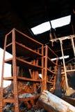 La destruction de l'incendie 04 images libres de droits