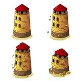 La destruction de la tour défensive Images libres de droits