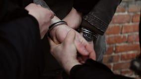 La detención de un criminal peligroso almacen de video