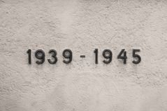 1939 - 1945 - la deuxième guerre mondiale Photographie stock