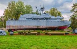 La deuxième guerre mondiale - bateau de guerre Images libres de droits