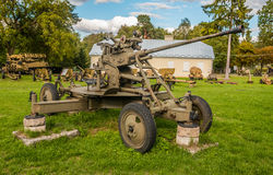 La deuxième guerre mondiale - canon Photographie stock