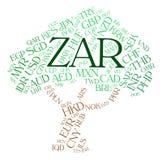 La devise de ZAR indique les couche-points sud-africains et les devises Photos stock