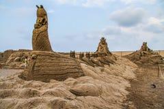 La devise du grès sculpté est Sandland photo libre de droits