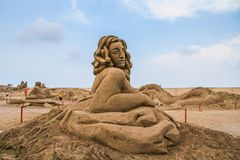 La devise du grès sculpté est Sandland photos stock