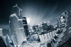 La Défense financial district by night Royalty Free Stock Photography