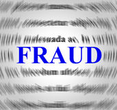La définition de fraude indique déchirent et escroquent Photo stock