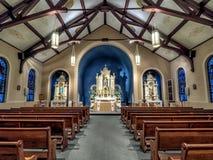 LA di New Orleans dell'altare della chiesa cattolica della st Henry Fotografie Stock