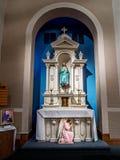 LA #3 di New Orleans dell'altare della chiesa cattolica della st Henry Fotografia Stock