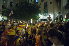 La Diada (jour national catalan 2016) Photos stock
