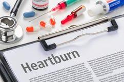 La diagnosi Heartburn immagini stock libere da diritti