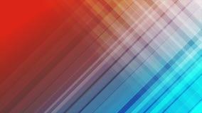 La diagonal azul y roja raya la animación video abstracta