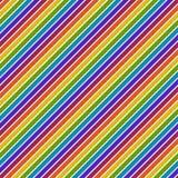 La diagonal brillante del arco iris raya el modelo inconsútil stock de ilustración