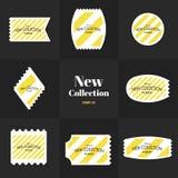 La diagonal de la colección alinea el sello Foto de archivo libre de regalías