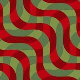 La diagonal verde y marrón de 3D retro agita con textura Fotos de archivo