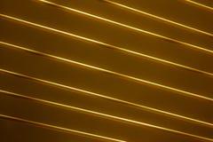 La diagonale allinea l'oro Fotografia Stock