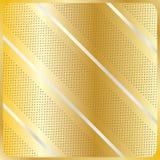 La diagonale barra il modello geometrico dell'oro Fotografie Stock Libere da Diritti