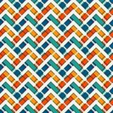La diagonale di Chevron barra il fondo astratto Modello di superficie senza cuciture con l'ornamento geometrico Linee orizzontali illustrazione di stock