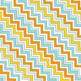 La diagonale di zigzag di Chevron allinea il modello senza cuciture Fondo astratto a strisce con l'ornamento geometrico classico illustrazione vettoriale