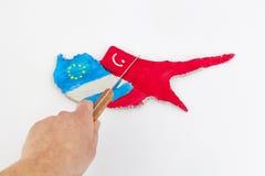 Crise financière de la Chypre de concept Photos stock
