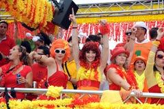 La diciannovesima parata a Zurigo, 14 agosto 2010 della via Fotografie Stock