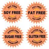 La dieta sigilla l'arancia Immagine Stock Libera da Diritti