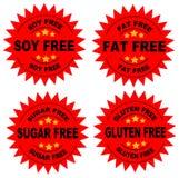 La dieta sigilla l'insieme di rosso Fotografie Stock Libere da Diritti