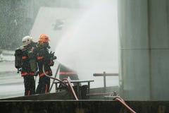 La difesa civile comanda all'addestramento Fotografia Stock Libera da Diritti