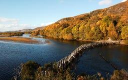 La diga al parco del Loch Immagine Stock