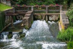 La diga dell'acqua di Bouzonville, Francia Fotografie Stock