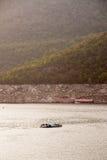 La diga di Bhumibol in Tailandia. Fotografia Stock