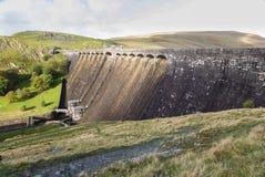 La diga di Claerwen, da sopra, paesaggio Fotografia Stock Libera da Diritti