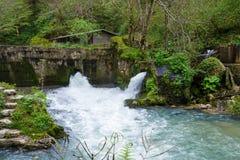 La diga sul fiume Fotografie Stock Libere da Diritti
