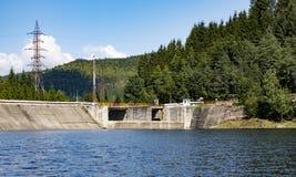 La diga sul lago Fantanele fotografie stock libere da diritti