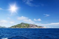 La Digue海岛,塞舌尔群岛。 免版税库存图片