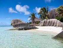 La Digue,塞舌尔群岛海岛 库存照片