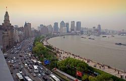 La digue, Changhaï Images stock