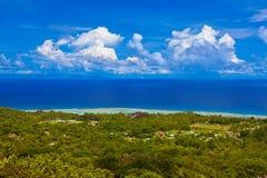 La Digue d'île chez les Seychelles Photo libre de droits