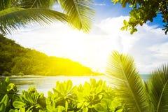 La Digue island, Seyshelles, Anse Source d'Argent. Royalty Free Stock Images
