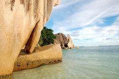 La Digue rock formations Royalty Free Stock Image